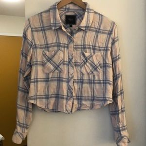 Rails cropped flannel